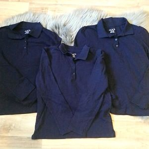 CHILDREN'S PLACE boy navy polo long sleeve